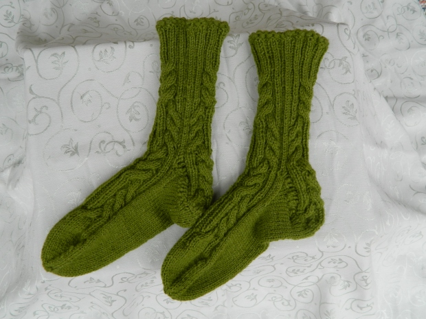 Log Cabin Socks Side View